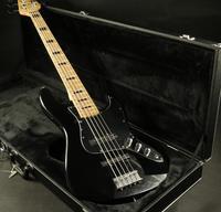 5 Strings Jazz Electric Bass Guitar BlackColor Maple Fingerboard Black Pickguard Free Shipping