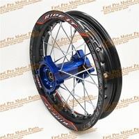1.85 x 12inch Rear Rims Aluminum Alloy Disc Plate Wheel Rims CNC Hub 12 32 spoke for dirt bike pit bike wheel spare parts