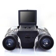 Professionale 12x32 HD Telescopio Binoculare digitale della macchina fotografica 5 MP fotocamera digitale da 2.0 TFT display full hd 1080p di macchina fotografica del telescopio