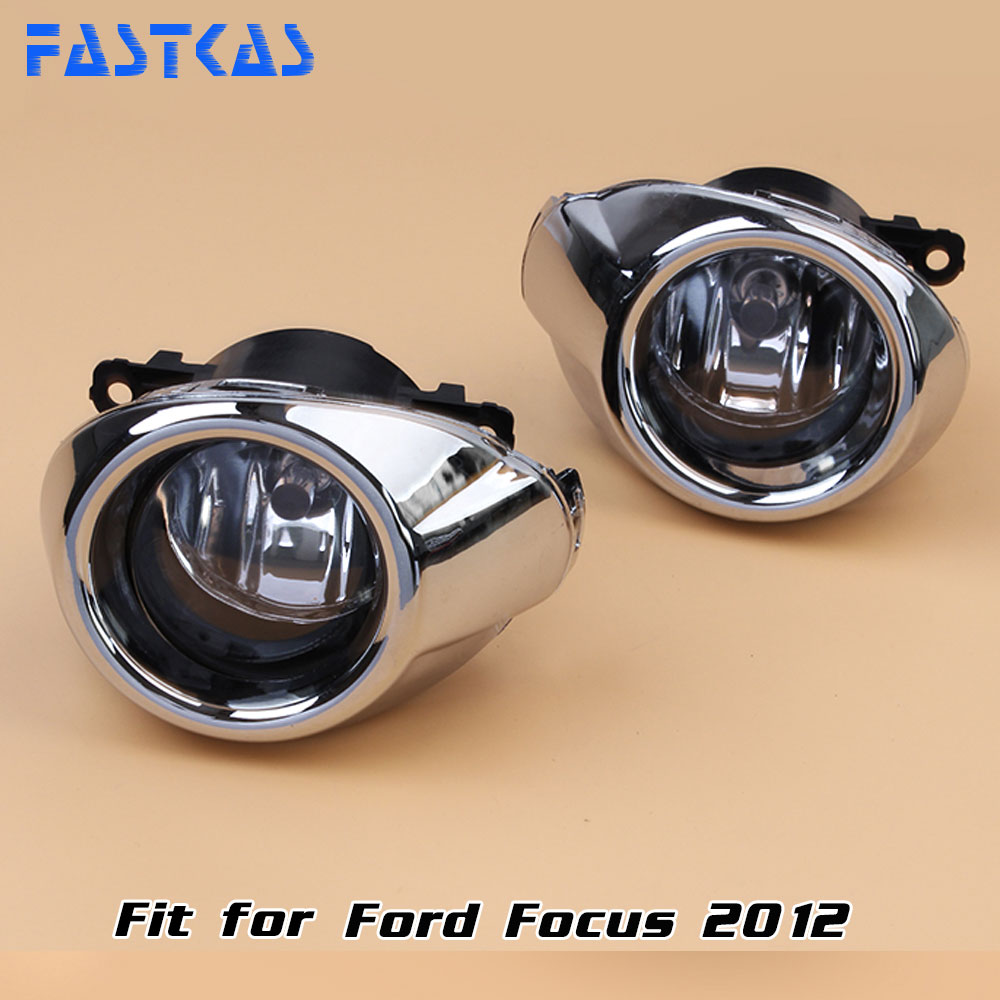 12v 55W Car Fog Light Assembly for Ford Focus 2012 Front Fog Light Lamp with Harness Relay Fog Light 12v 55w car fog light assembly for ford focus hatchback 2009 2010 2011 front fog light lamp with harness relay fog light