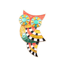 2017 free shipping fashion women New Jewelry wholesale Fashion Owl brooch Wholesale brooches