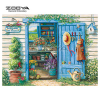 Welcome To My Garden Diamond Embroidery DIY Needlework Diamond Painting Cross Stitch Full Drill Scenic Rhinestones