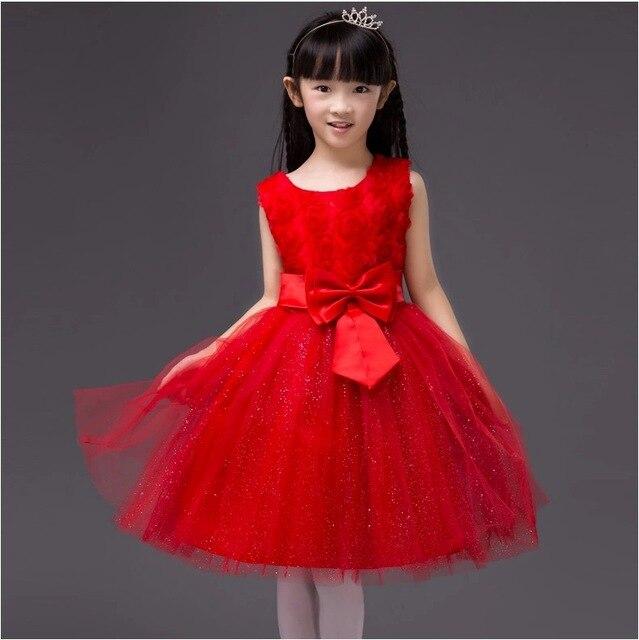 327c973c0d3 kids Rose flower girl dresses girls princess dress sleeveless vest princess  dress 7 color 5031