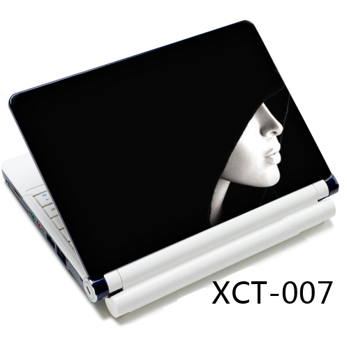 Black & White Hoody Lady 12 13 13.3 14 15 15.4 15.6 Laptop Sticker Skin Notebook Decal Cover