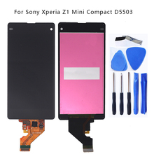 цена на 4.3'' Original For Sony Xperia Z1 mini compact D5503 M51W LCD Display touch screen digitizer For Sony Xperia Z1 mini Phone Parts