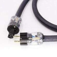 Hi End 4 kare hifi ses ab/abd güç kablosu saf bakır güç kablosu