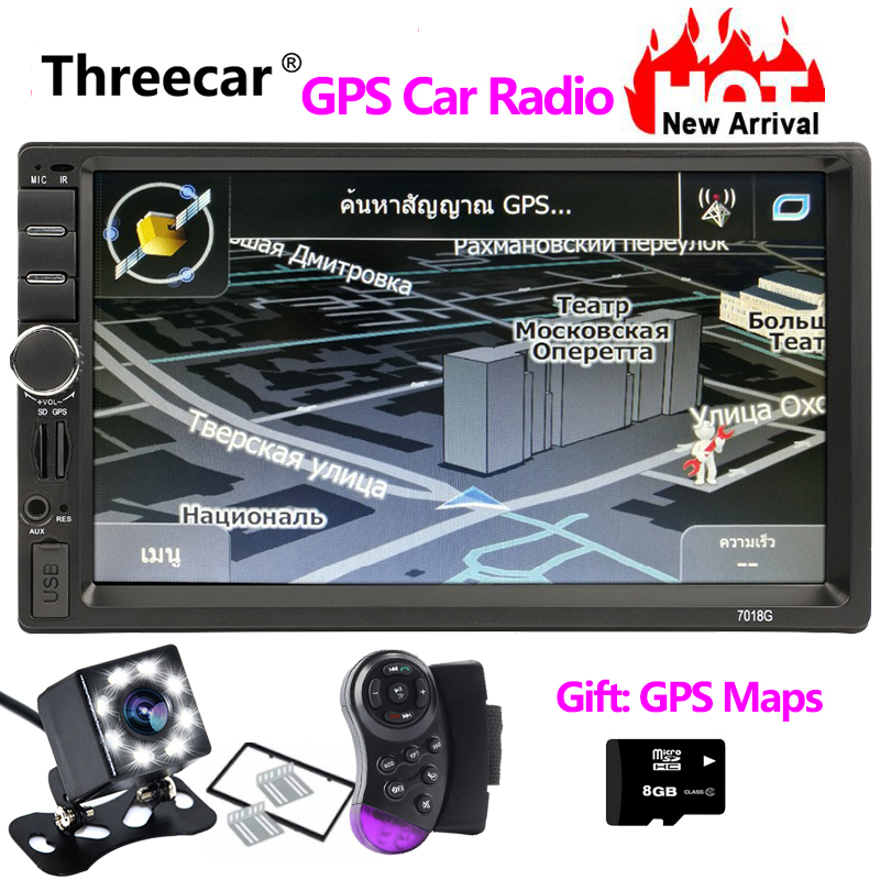7018G GPS Navigation 2 Din Car Radio Car Mp5 Player 7 Touch Screen Bluetooth Car Stereo Radio Multimedia Autoradio Mp3 FM Aux7018G GPS Navigation 2 Din Car Radio Car Mp5 Player 7 Touch Screen Bluetooth Car Stereo Radio Multimedia Autoradio Mp3 FM Aux