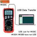 HONEYTEK Usb мультиметр True-RMS Профессиональный цифровой мультиметр температура AC/DC Вольтметр тест непрерывности NCV мульти метр