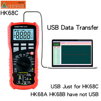 HONEYTEK Usb Multimeter True RMS Professional Digital Multimeter Temperature AC/DC Voltmeter Continuity Test NCV Multi Meter