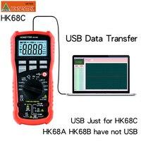 HONEYTEK Usb Multimeter True RMS Professional Digital Multimeter Temperature AC/DC Voltmeter Continuity Test NCV Multi Meter