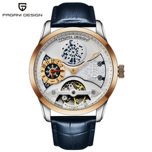 2018 New PAGANI Leather Tourbillon Watch Top Brand Luxury Automatic Mens Watces Men Mechanical Watches Clock Relogio Masculino