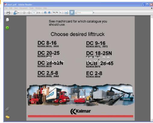 Kalmar Lift Trucks parts and repair (service manual)