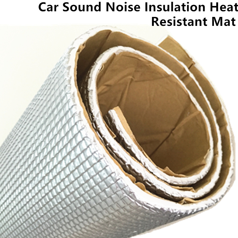 Car Audio Sound Deadener <font><b>Vibration</b></font> Control Proof Aluminum Foil Cotton Heat Insulation Mat Door Roof Trunk <font><b>Hood</b></font> Self Adhesive