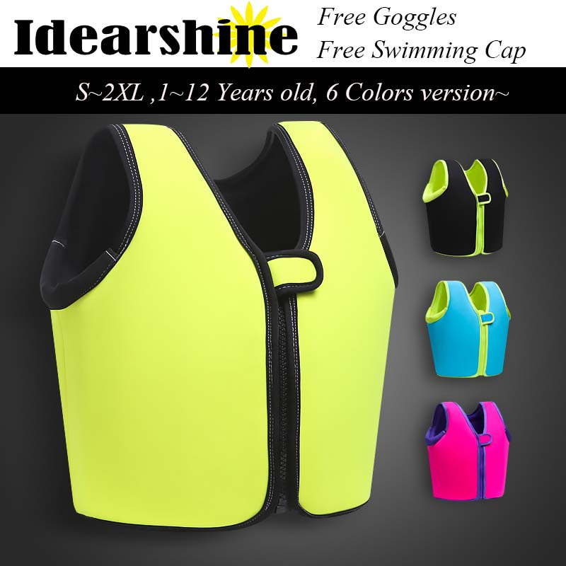 2017 New Summer Swimming life vest Children's inflatable swimming vest / bathing suit /Swimming Jacket for Kid free goggles cap