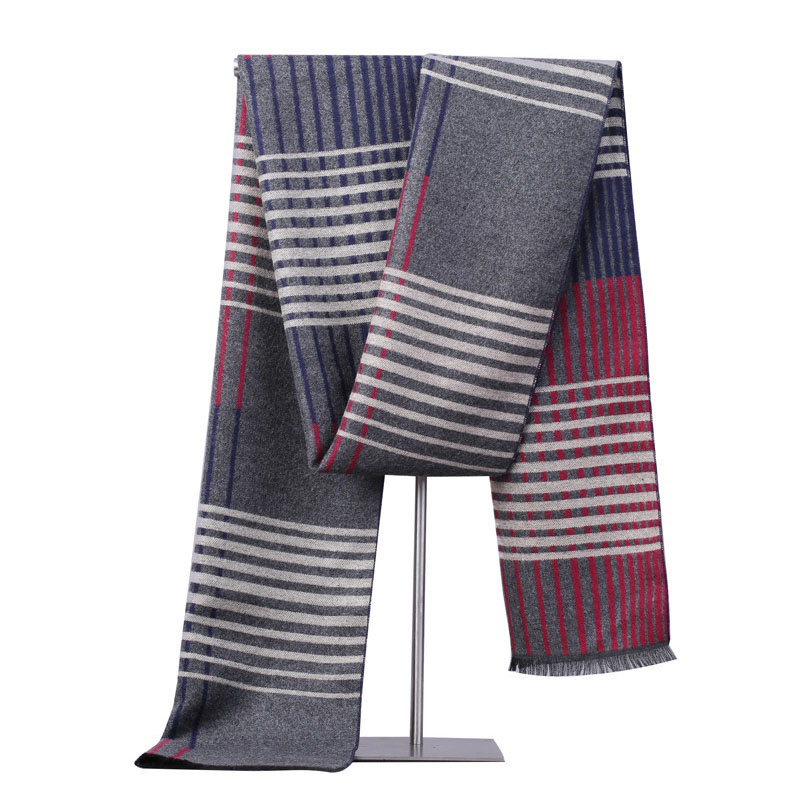 Search For Flights Classic Plaid Striped Men's Scarf High Quality Men's Business Scarves Winter Warm Scarf For Men Boys Dad Scarf Gift For Him