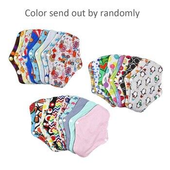 Las mujeres de higiene femenina sanitaria Pad lavable reutilizable Panty Liner de bambú paño mamá sanitario menstrual pañal Toalla de servilletas