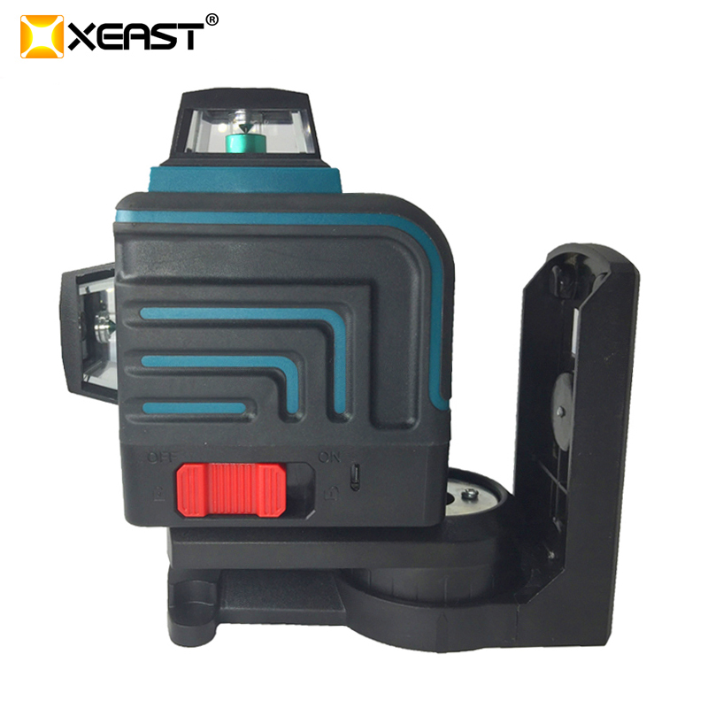 XEAST NEW 12 Lines 3D Blue laser level Self Leveling 360 Horizontal And Vertical Cross green