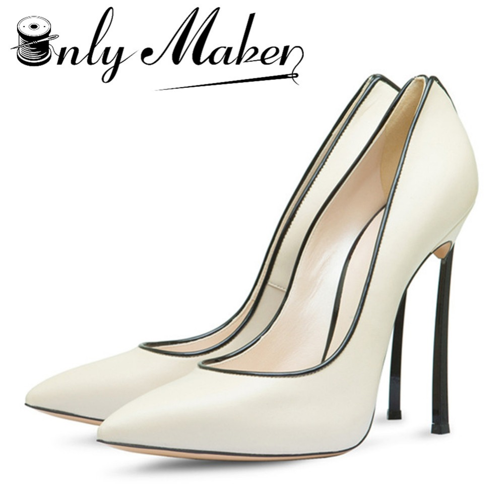 Onlymaker Shoes Woman High Heels Bridal Shoes With Bow Sexy Women Shoes High Heels Pointed Toe