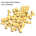 Flare Silicone Copper Micro Links 4.0*3.0*6.0MM Silicone Micro Beads Micro Link Tube Silicone Micro Ring For Hair Extensions