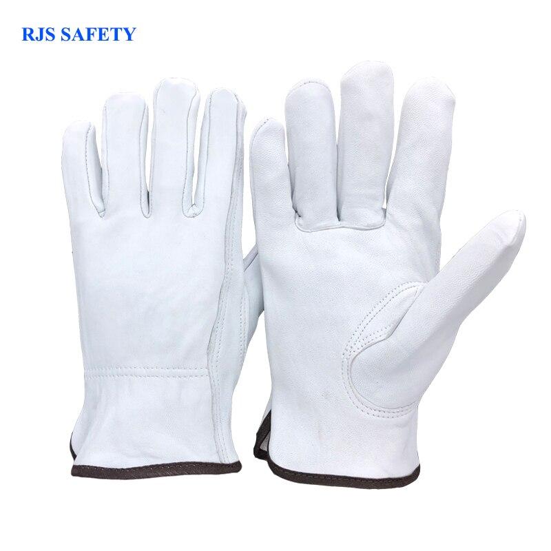 Guantes de trabajo de seguridad los hombres de piel de oveja guantes de trabajo de soldadura protección de seguridad jardín deportes MOTO desgaste resistina guantes 4020 W