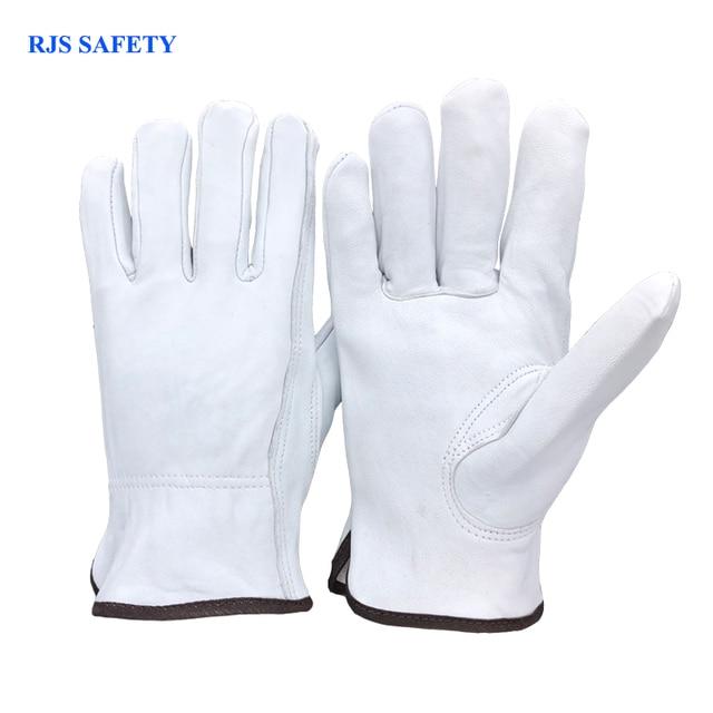 Safety Work Gloves Sheepskin Leather Men Working Welding Gloves Safety Protective Garden Sports MOTO Wear-resistin Gloves 4020W