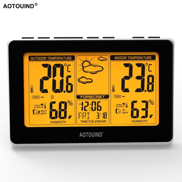 Aotouind Professional Wireless Weather Station With Indoor Outdoor Thermometer Hygrometer Future Weather Forecast