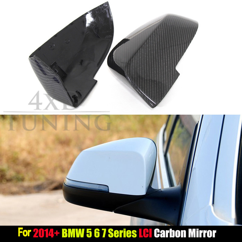 For BMW 5 6 7 Series F10 F12 F13 F06 F01 F02 Carbon Fiber Rear View Side Mirror Cover LCL 2014 2015 2016