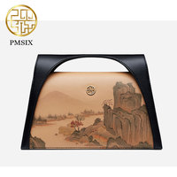 Pmsix luxurious l Landscape Painting Women Bag Original designer Cowhide Shoulder Bag Messenger Bag Mini Handbag 2 color