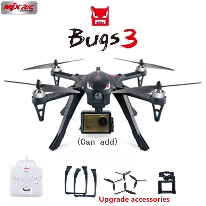 MJX Bugs 3 B3 Professional RC Quadcopter 2.4G 4CH 6-Axis Brushless Drone With H9R 4K Camera Remote Control Helicopter VS X8PRO mjx bugs 3 b3 rc quadcopter brushless motor 2 4g 6 axis gyro drone with h9r 4k camera professional drone helicopter black