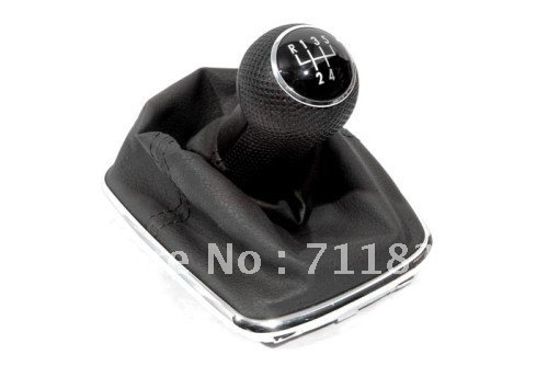 Интерьер Шестерни рукоятка механизма переключения и ботинок с хромированной окантовкой база 5 Скорость шаблон для Volkswagen VW Golf/Jetta/Бора MK4