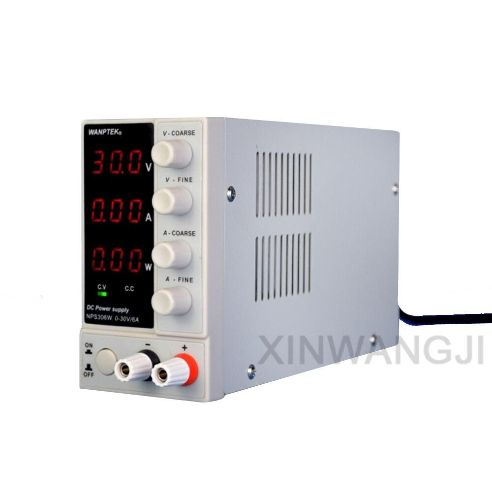 NPS306W Mini commutation réglable DC alimentation tension courant puissance 3 fenêtre affichage 30 V/6A 0.1 V/0.01A/0.01 W