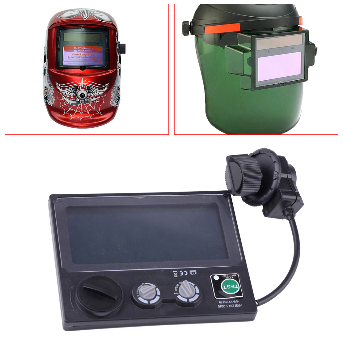 DIN9~DIN13 LCD Screen Solar Car Darkening Mask Goggles Lens For Welding Helmet