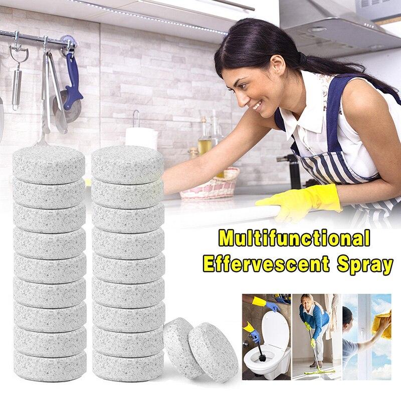 10 Stücke Sauber Werkzeug Reiniger Haushalt Reinigung Werkzeug Kompakte Pillen Brause Tabletten Glas Wasser Feste Wischer