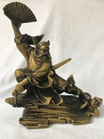 Chinese Taoism Temple Bronze Copper Zhong Kui Zhuo Gui The Ghost buster Statue