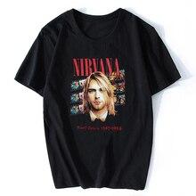 e798ef2de Nirvana Kurt Cobain Vintage T-shirts Men/Women Summer Tops Tees NIRVANA T  Shirt