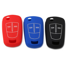 Remote 2/3 Buttons Silicone Flip Folding Car Key Shell Key Cover Case Case for Vauxhall Opel Corsa Astra Vectra Signum(China)