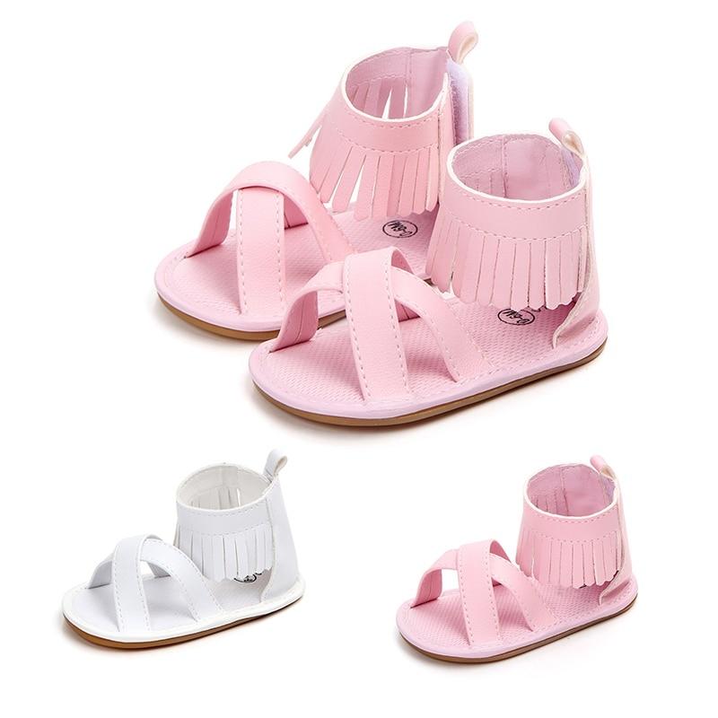 Для малышей для маленьких девочек мягкой кроватки обувь новорожденных противоскользящие Prewalkers летние сандалии для девочек 0-18 м 2018 новые