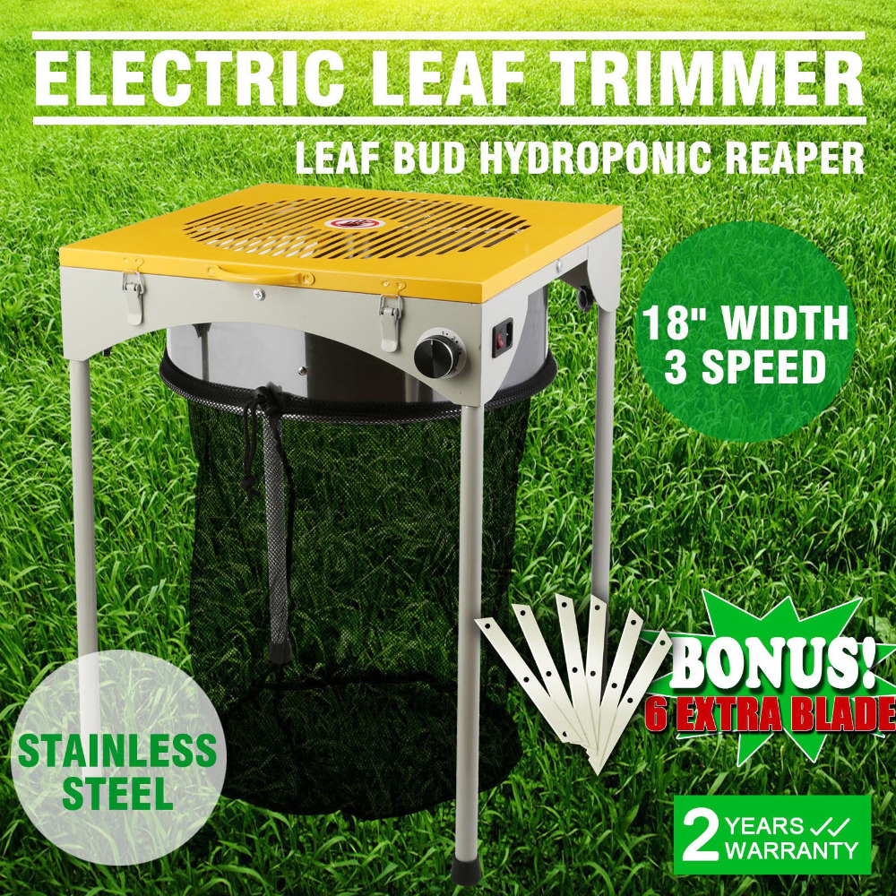 Quick Trim Hydroponic Grow Room 18-inch Powered Leaf Bud Table Trimmer