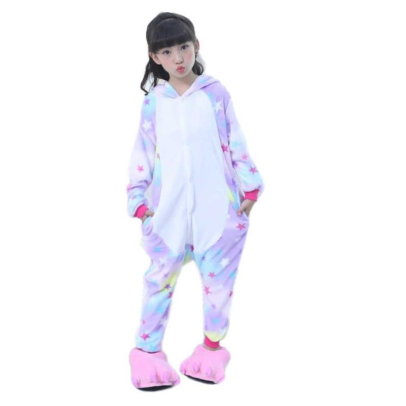 ... EOICIOI дети животных звезды единорог пижамы для обувь мальчиков  девочек Фланель мультфильм косплэй детская одежда сна ... 2d2c366e6afe5