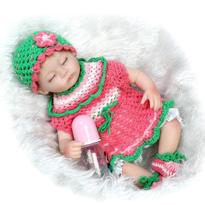 ФОТО 17 Inch 42cm Bebe Reborn Boutique Newborn LifeLike Real Girl Doll Princess Gifts Toys DIY Doll Kid's Accompany playmates Gifts