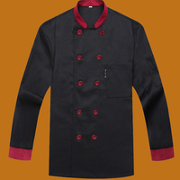 Chef Uniform Chef Jackets Food Cooking Clothes Long Sleeved Double Breasted Overalls