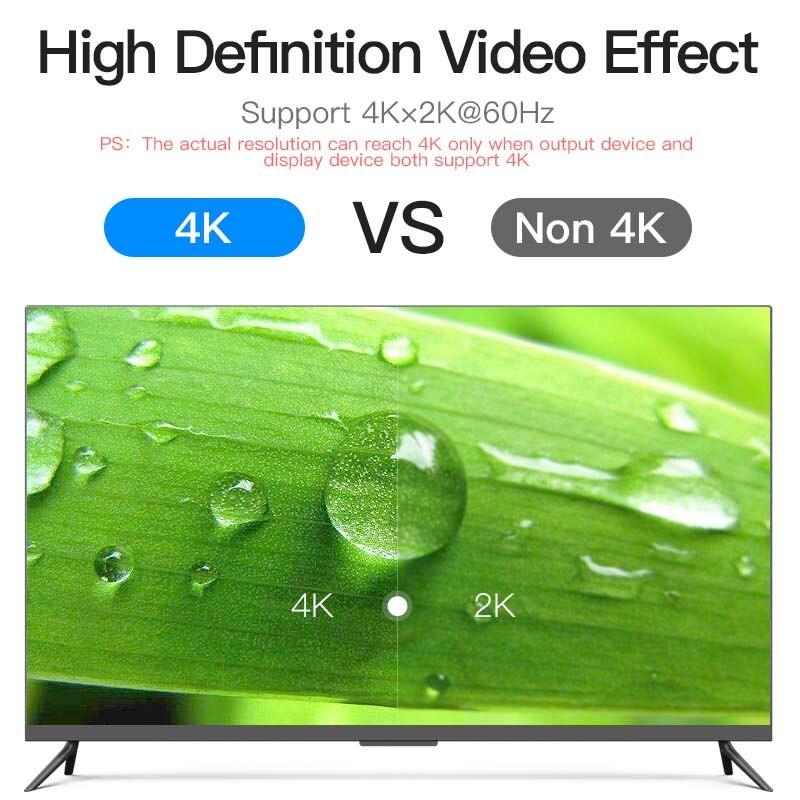Vention HDMI câble 2.0 HDMI vers HDMI câble 4K HDMI câble 5m pour HD TV ordinateur portable lcd PS3 projecteur ordinateur câble 5m 2m fibre optique - 3