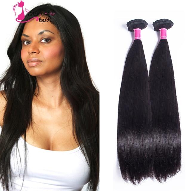 Best Grade 7a Indian Virgin Straight Hair 2pclot Natural Black