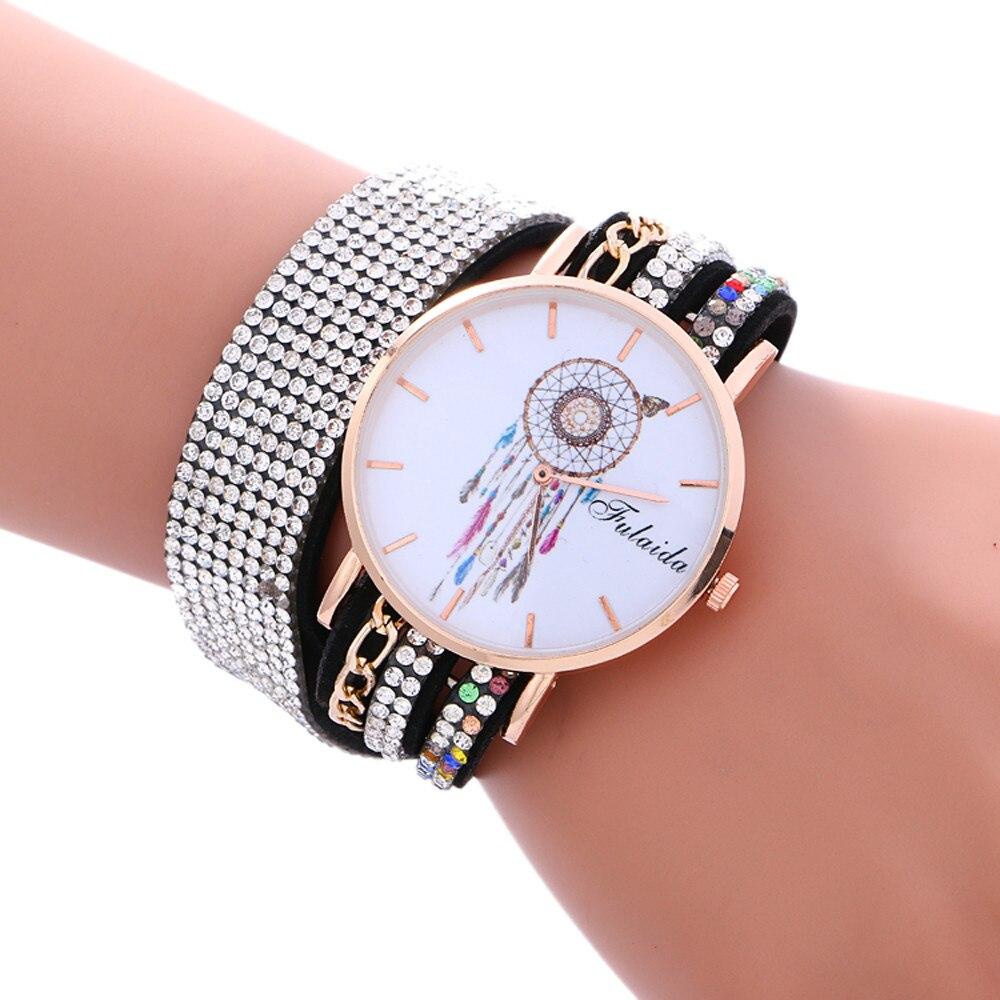 2017 Brand Fashion Bracelet Watch Women Rhinestone Wa