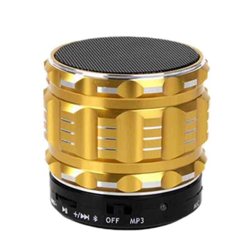 S28 Metallo Altoparlante Bluetooth Senza Fili Mini Altoparlante di Bluetooth per Telefoni cellulari e Smartphone Compresse SD Card U Disco MP3 Bluetooth Subwoofer