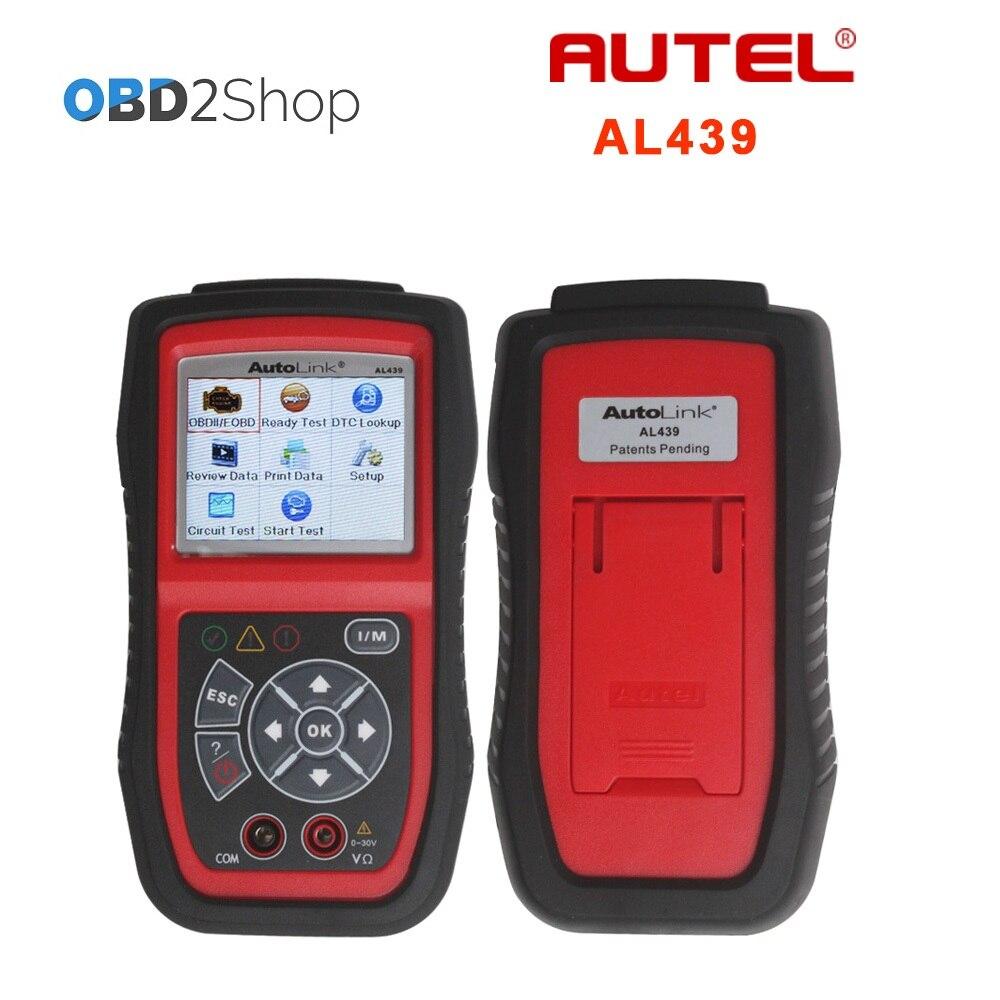 Autel автоссылки AL439 OBD II/EOBD сканер + Электрические Тесты Автоссылка al 439 диагностический Двигатели для автомобиля код читателя