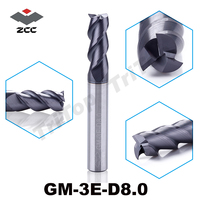 GM 3E D8 0 Cnc Router Profile Bit For Wood And Steel TiAIN Coated Solid Carbide