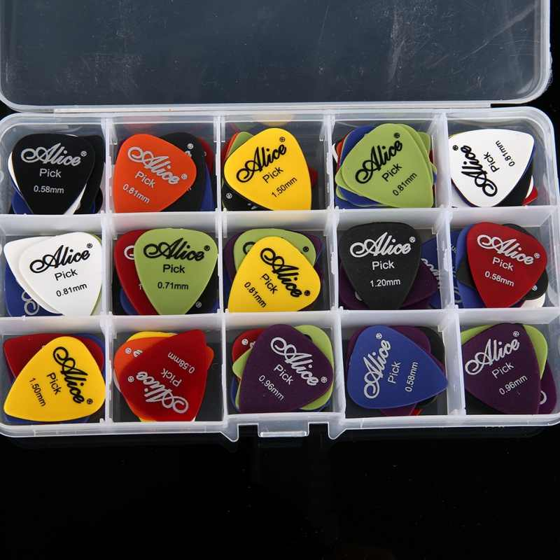 Droppingship 4/30/40/50/100pcs Guitar Picks & Box Case Alice Acoustic Electric Guitar Accessories Musical Instrument 0.58-1.5mm