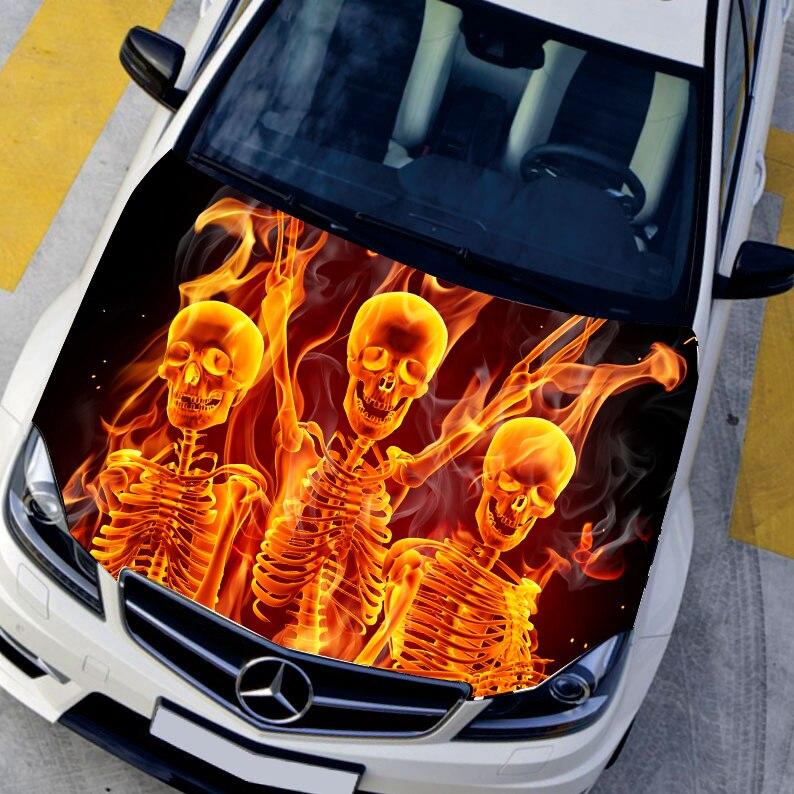 Graphics For Car Hood Flame Graphics Wwwgraphicsbuzzcom - Custom vinyl decals for car hoods