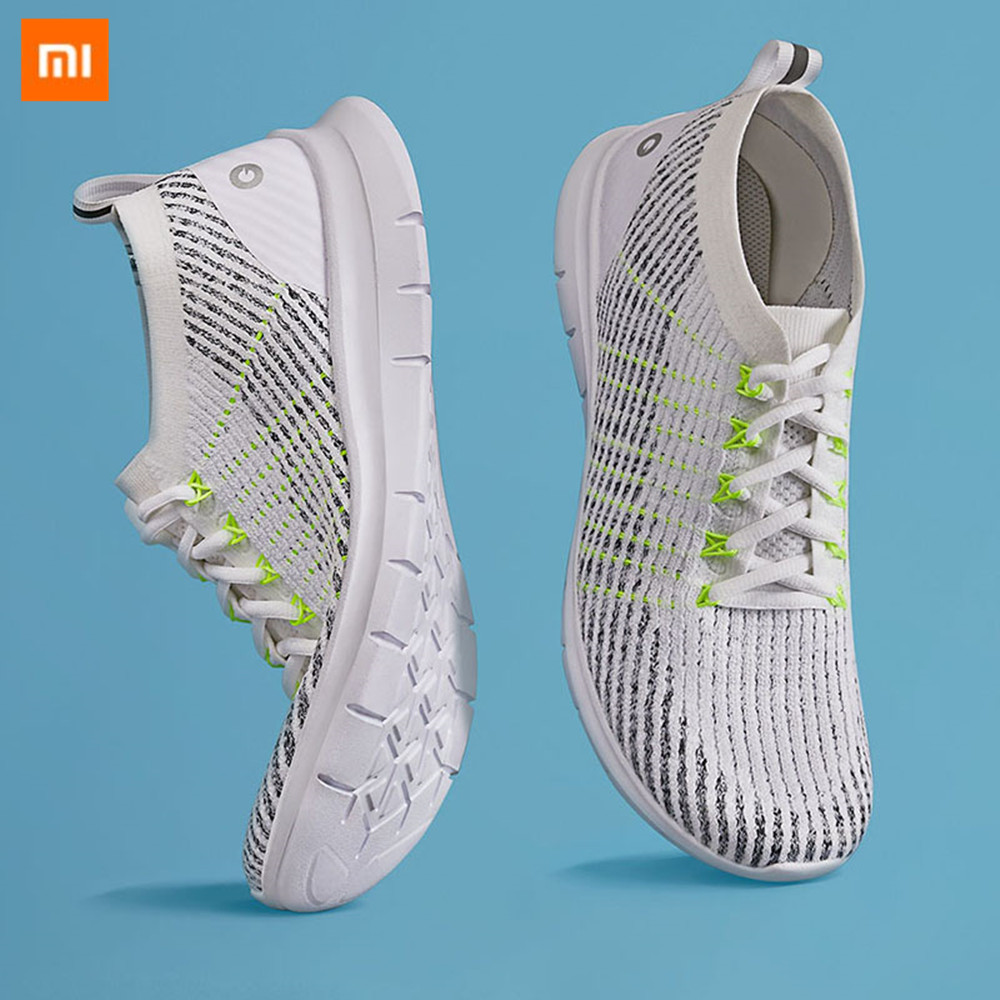 Xiaomi mijia AMAZFIT One piece Woven Upper Running Shoes Men Women Shoes Lightweight Comfortable Breathable Non